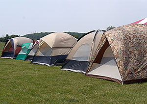 Tents lined the field